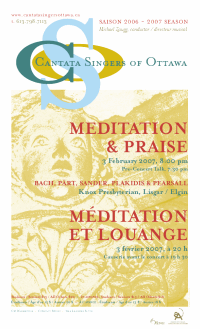 Download the poster for the February 3 concert Meditation and Praise